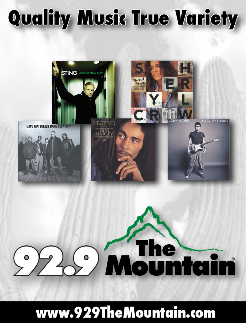 92.9 The Mountain - Quality Music, True Variety