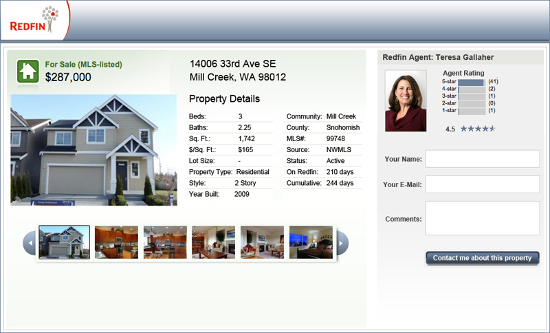 Redfin Property Details Page
