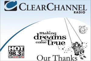 Clear Channel Radio Boys and Girls Club Anniversary Dinner sponsorship