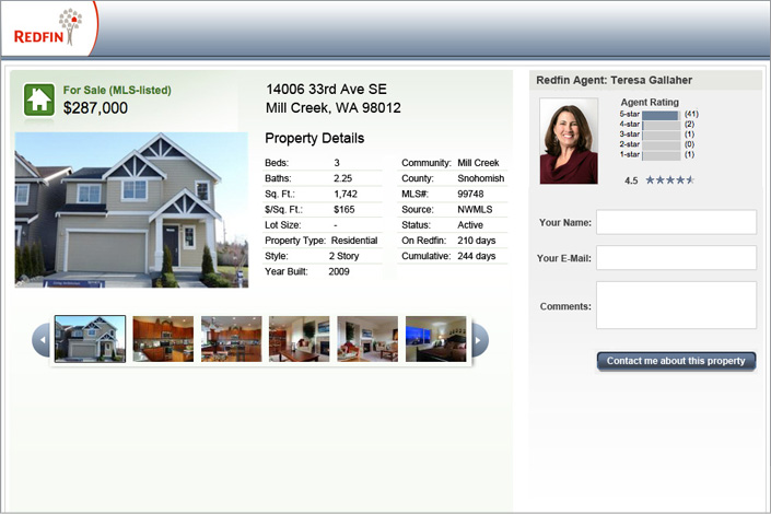 Redfin Property Details Landing Page