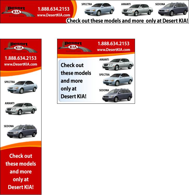 Desert Kia Banner Ads