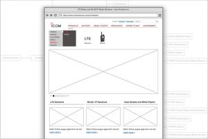 Icom Network Division Sitemap and Wireframe